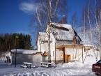 Chata pod sněhem