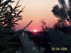 Východ slunce na střelnici -svítání